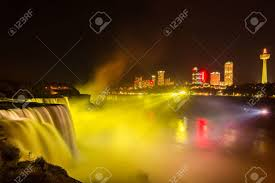 niagara falls light show niagara falls light show at night usa stock photo picture and