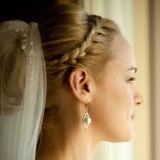 wedding braided hair veil