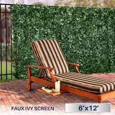 Privacy Screens by Amazon Com Windscreen4less Artificial Faux Ivy Leaf Decorative