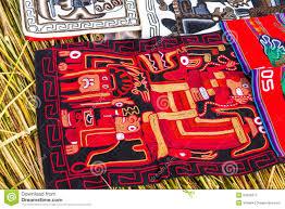souvenir on floating islands titicaca lake peru south america