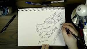 draw dragon head fantasy ss