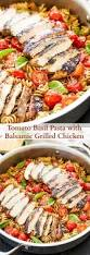 pasta dishes tomato basil pasta with balsamic grilled chicken recipe light