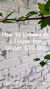 how to limewash your house for less than 10 00 at lady butterbug