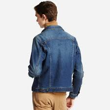 Denim Blue Men Denim Jacket Uniqlo Us