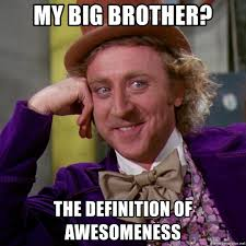 Meme Generator Definition - my big brother the definition of awesomeness willy wonka meme