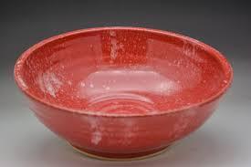 Fruit Bowl Festive Red Fruit Bowl J Fetzer Pottery