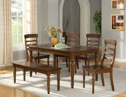 Rectangular Kitchen Design Kitchen Table With Bench And Chairs Casual Kitchen Design With