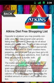 atkins diet free shopping list android apps on google play