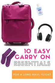 10 Must Carry On Essentials by 10 Carry On Essentials For A Haul Flight Doodle Me Travel