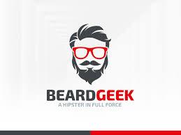 beard geek logo template by alex broekhuizen dribbble