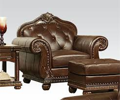 cherry brown leather sofa anondale acme top grain leather sofa set