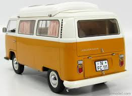 orange volkswagen van schuco 0187 scale 1 18 volkswagen t2a camping bus 1972 orange