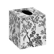 toile tissue box black white bungalow 5