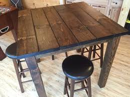 rustic pub table and chairs amazing rustic bar table with rectangular home furnishings tables