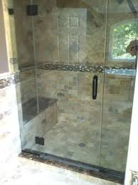 Installing Glass Tile Glass Tile In Shower Custom Shower Installation With Glass Walls