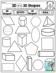 first grade math unit 17 geometry 2d and 3d shapes coloring