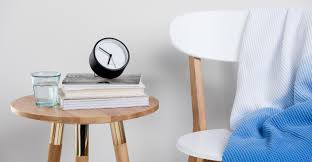 Minimalist Alarm Clock by Aurelia Alarm Clock Matt Black Made Com