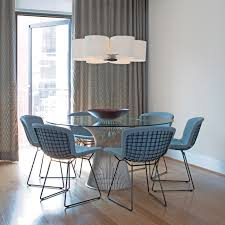 knoll bertoia side chairs with platner dining table the blues