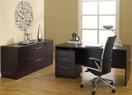 Modern Espresso Desk 63 Modern Espresso Desk With Credenza Mobile Pedestal