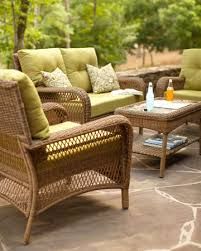 Martha Stewart Living Patio Furniture Cushions Charlottetown Wicker Woven Loveseat Chair And Coffee Table By With
