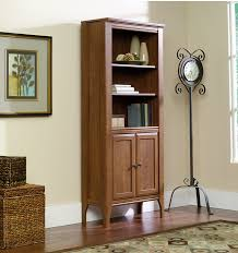 sauder 4 shelf bookcase sauder appleton library bookcase with doors 5 shelves 72