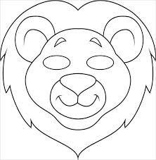 lion mask craft adults color pages free printable animals masks craft scary lion