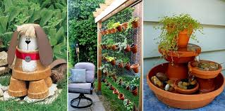10 budget friendly and cute garden projects made with flower pots