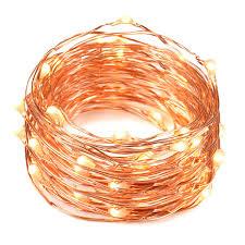 Copper String Lights by Oak Leaf Warm White Fairy Lights 2 Set Of 4 9 Feet 30 Led Starry