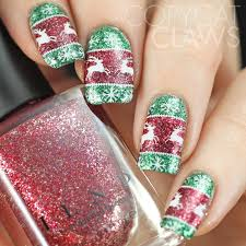 copycat claws sunday stamping ugly christmas sweater nails