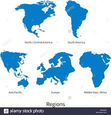 Map Of Central America And South America Detaillierten Vektorkarte Von Nord Mittelamerika Asien Pazifik
