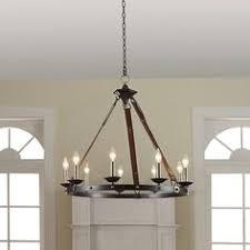 Rustic Candle Chandeliers Shop Kichler Lighting Covington 24 49 In 6 Light Olde Bronze