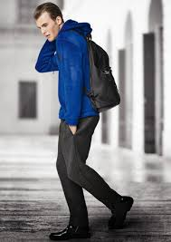 how to wear a blue sweater with charcoal pants men u0027s fashion