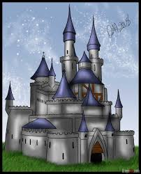 learn how to draw a medieval castle buildings landmarks u0026 places
