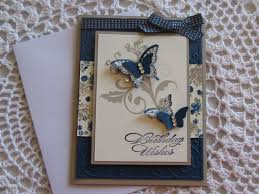 handmade greeting card butterfly birthday wishes