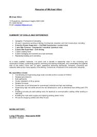Job History Resume Many Years by Michael Allen Resume