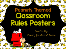 themed posters peanuts themed classroom posters