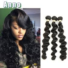 wet and wavy sew in hair care unice hair company brazilian loose wave virgin hair 3 bundles