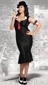 Woman Gangster Halloween Costumes Size Deadly Dame Gangster Halloween Costume