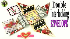 tutorial scrapbook card double interlocking secret envelope card diy handmade tutorial