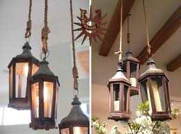 Rustic Candle Chandelier Lighting Outdoor Candelabra Candle Chandelier Non Electric