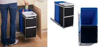 Kitchen Recycling Bins For Cabinets Pull Out Bin 300mm Cabinet Memsaheb Net