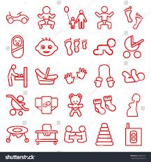 baby icons set set 25 baby stock vector 654081487 shutterstock
