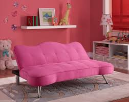 pink tufted upholstered futon sofa chaise lounger convertible fold