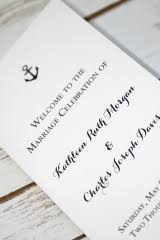 nautical wedding programs portfolio beloved designs custom designed weddings