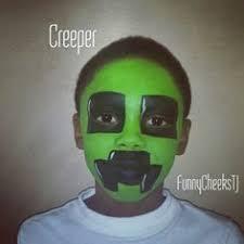 Minecraft Creeper Halloween Costume Facepainting Snowqueen Minecraft Creeper Facepainting