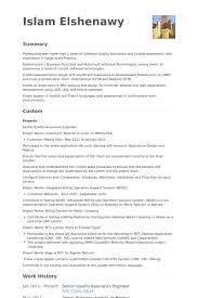 Sqa Resume Sample Quality Assurance Engineer Resume Samples Visualcv Resume