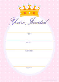 printable invitation templates free printable party invitations free invitations for a princess