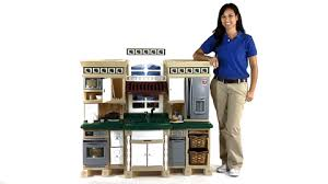 Step Two Play Kitchen by Step2 Lifestyle Deluxe Kitchen With Realistic Sounds Granite