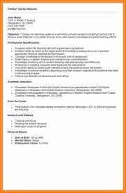 resume format for fresher teacher filetype doc 5 resume for teaching job fresher essay checklist