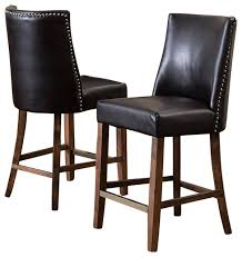 Kitchen Leather Counter Height Bar Stools Foter With Regard To - Elegant dining table with bar stools residence